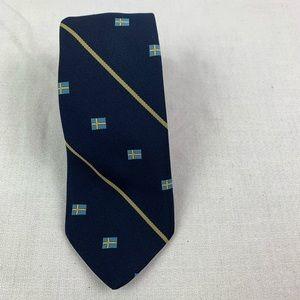 🌈 Norway Flag Tie Norwegian Blue yellow Polyester